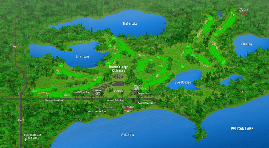 Deacon S Lodge Map Breezy Point Resort Property Map