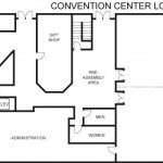 convention center floor plans - lower level