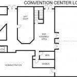 convention center floor plans - lower level
