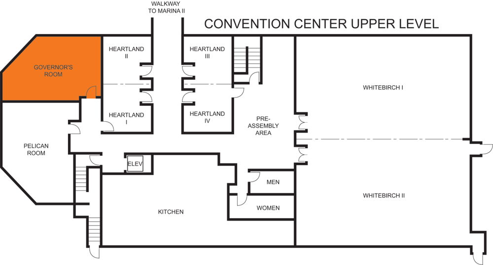 Governor's Room floorplan
