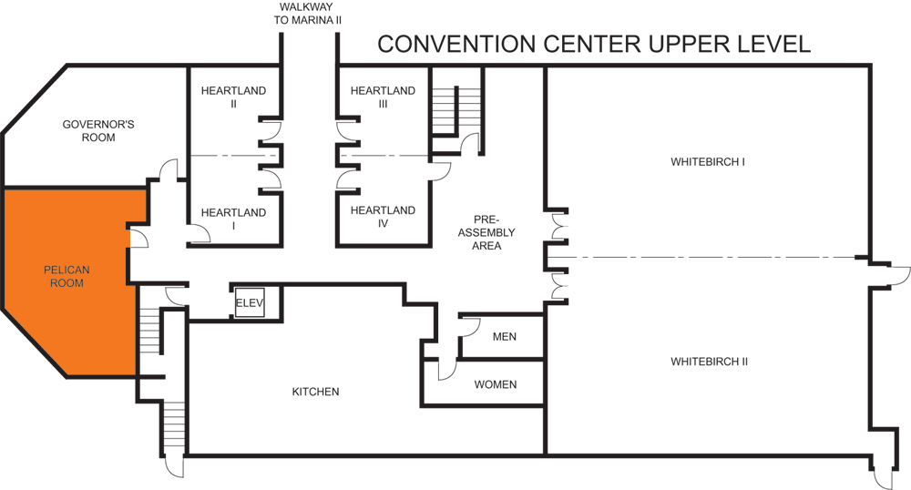 Pelican Room floorplan
