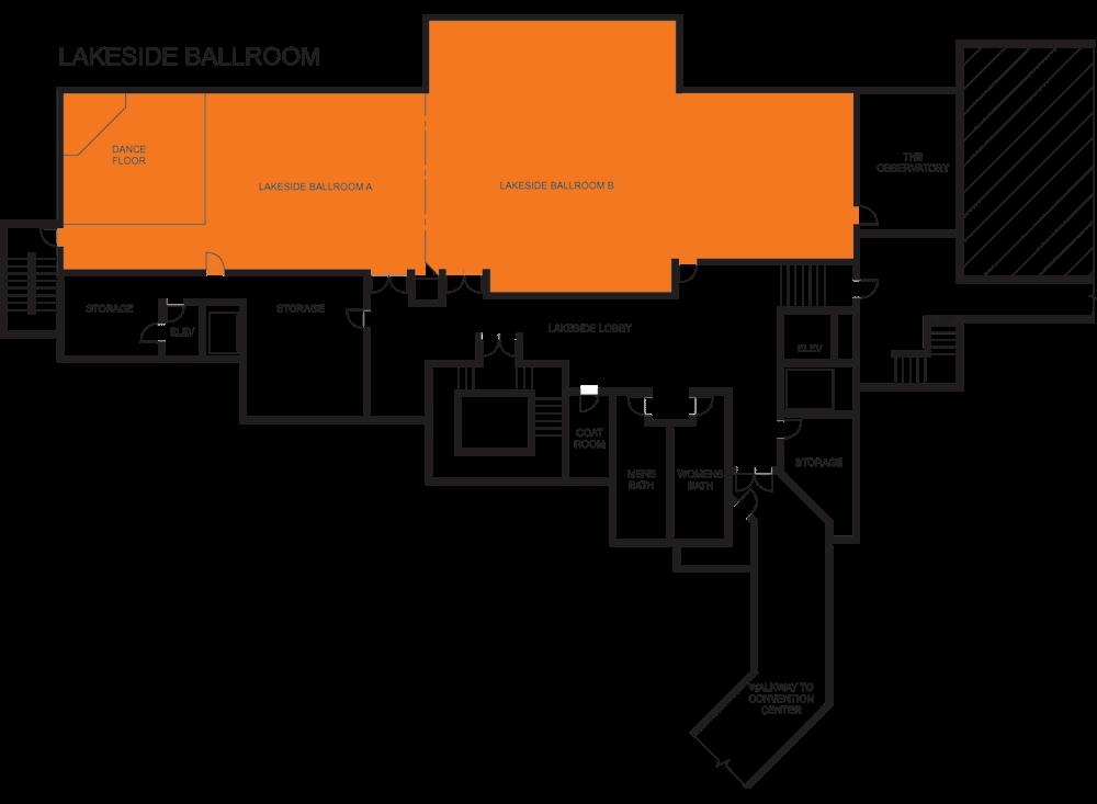 Lakeside Ballroom A & B floorplan