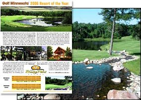 "2006 Golf Minnesota magazine ""Resort of the Year"""