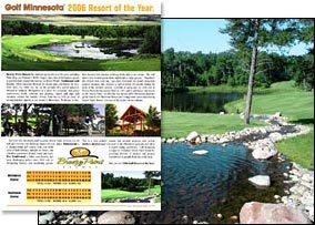 """2006 Golf Minnesota magazine """"Resort of the Year"""""""