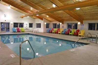 indoor pool at Breezy Point Resort