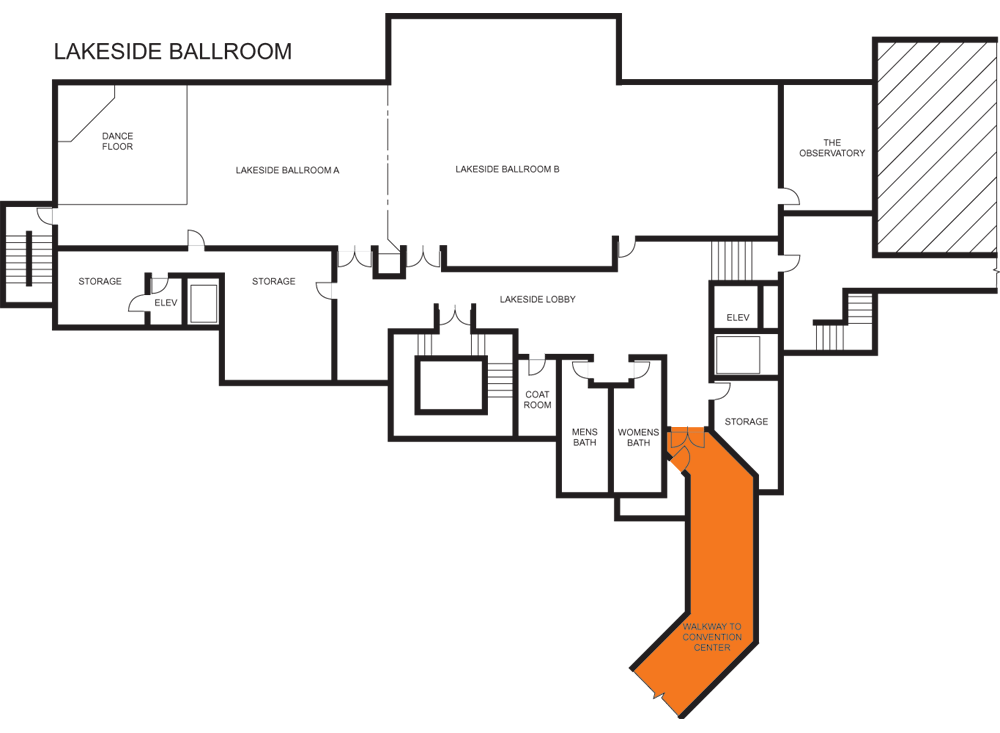 Convention Center Walkway Floorplan