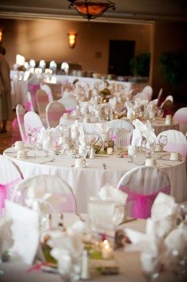 decorated reception table