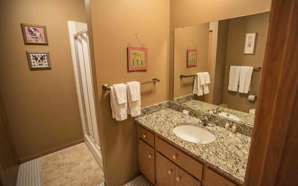 Unit 416 Downstairs bathroom